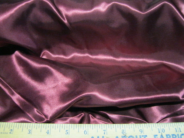 Discount Fabric Satin Burgundy 65 inches wide  97SA