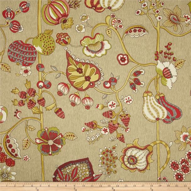 Discount Fabric Richloom Upholstery Drapery Delphine Sateen Cardinal 104RL