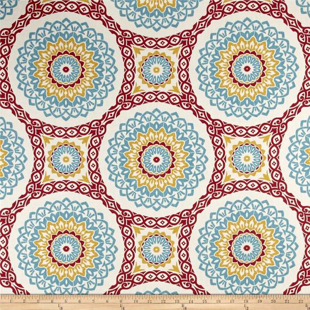 Discount Fabric Richloom Upholstery Drapery Olympus Multi Color Medallion 107RL