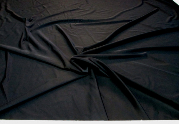 Discount Fabric Nylon Lycra Spandex 4 way stretch Solid Black 03NLY