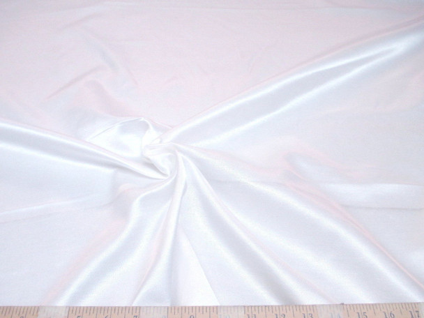 Discount Fabric Antique Satin Upholstery Drapery White 202SA