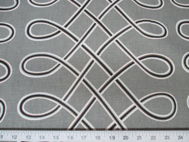Discount Fabric Robert Allen Upholstery Drapery Multi Loop Storm Grey 04RA