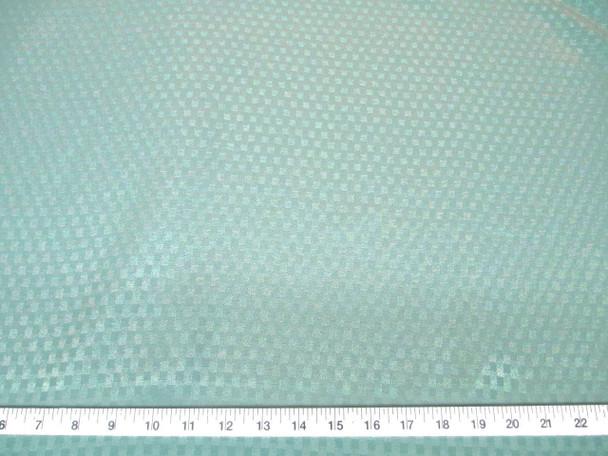 Discount Fabric Drapery Jacquard Check Mint Green 43DR