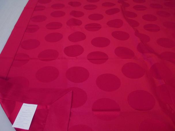"Robert Allen Holiday 79"" x 54"" Tablecloth Table Cloth Cranberry Circles"