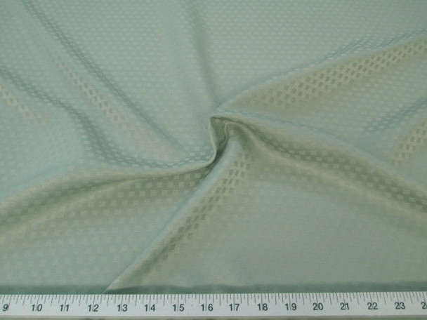 Discount Tablecloth Fabric Jacquard Check Light Olive Green 44DR