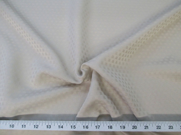 Discount Tablecloth Fabric Jacquard Check Mushroom Tan 46DR