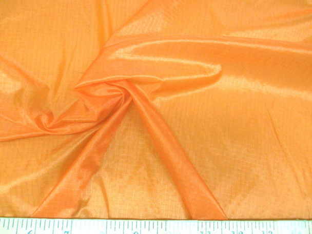 Discount Fabric 48 inch Ripstop Rip Stop Nylon Water Resistant Light Orange 45RS