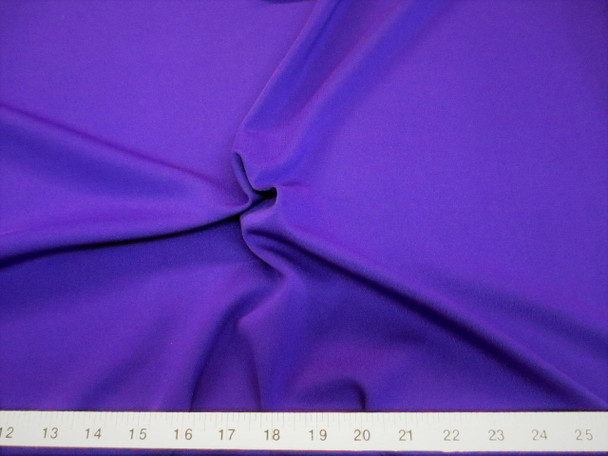 Discount Fabric Polyester Lycra Spandex 4 way Super Stretch Purple 990LY