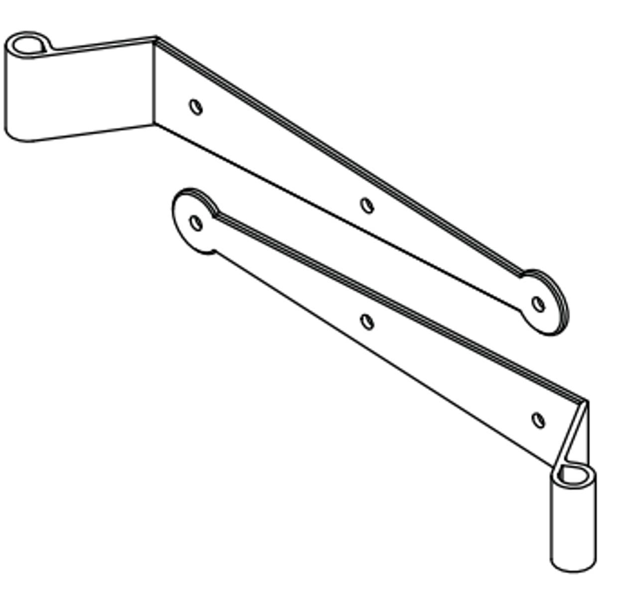 Picture of: Stainless Lag Pintle 12 Strap Hinge Set 2 Pair 360 Yardware