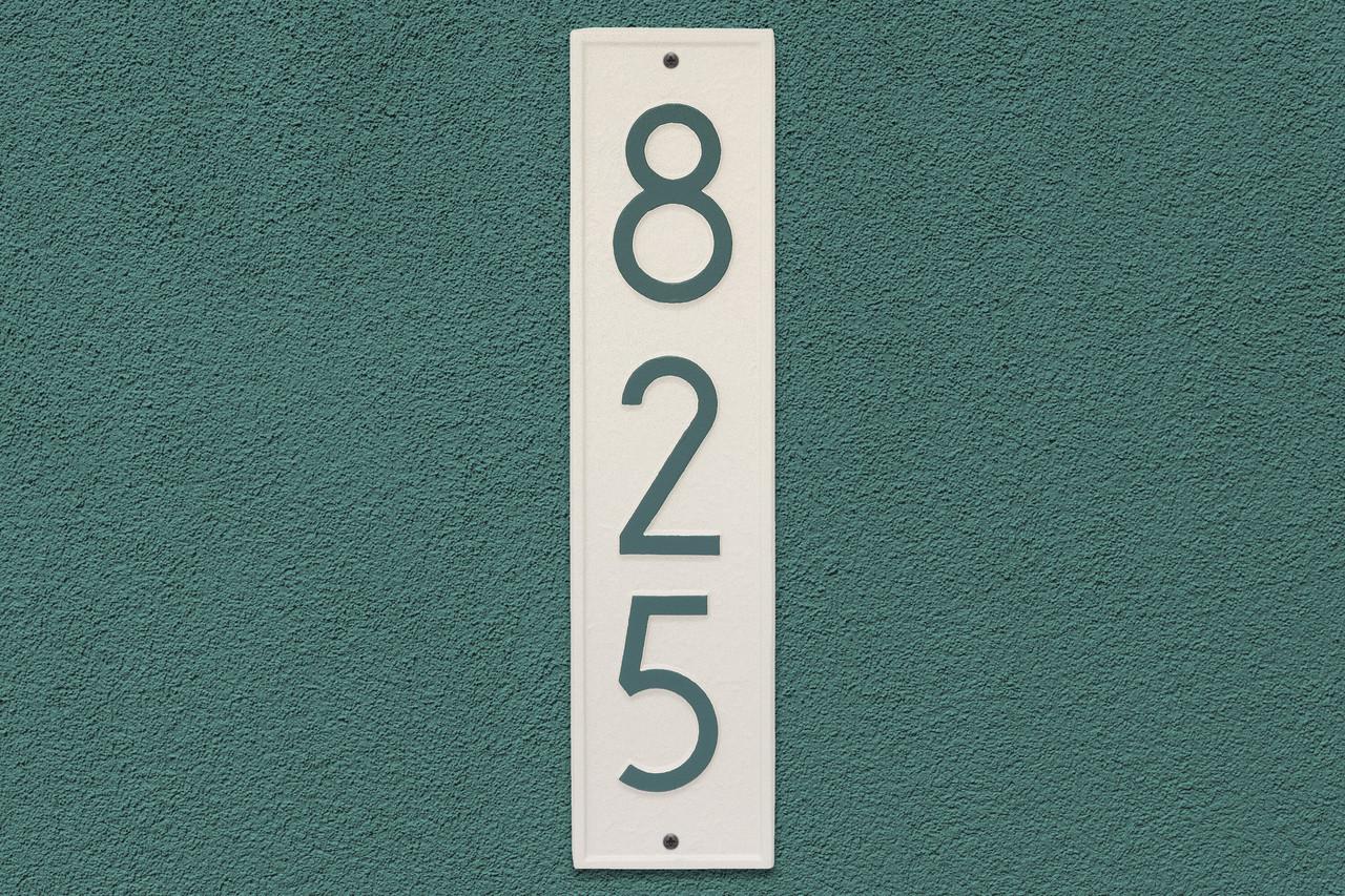 Delaware Modern Personalized Vertical Wall Plaque Coastal Green 360 Yardware