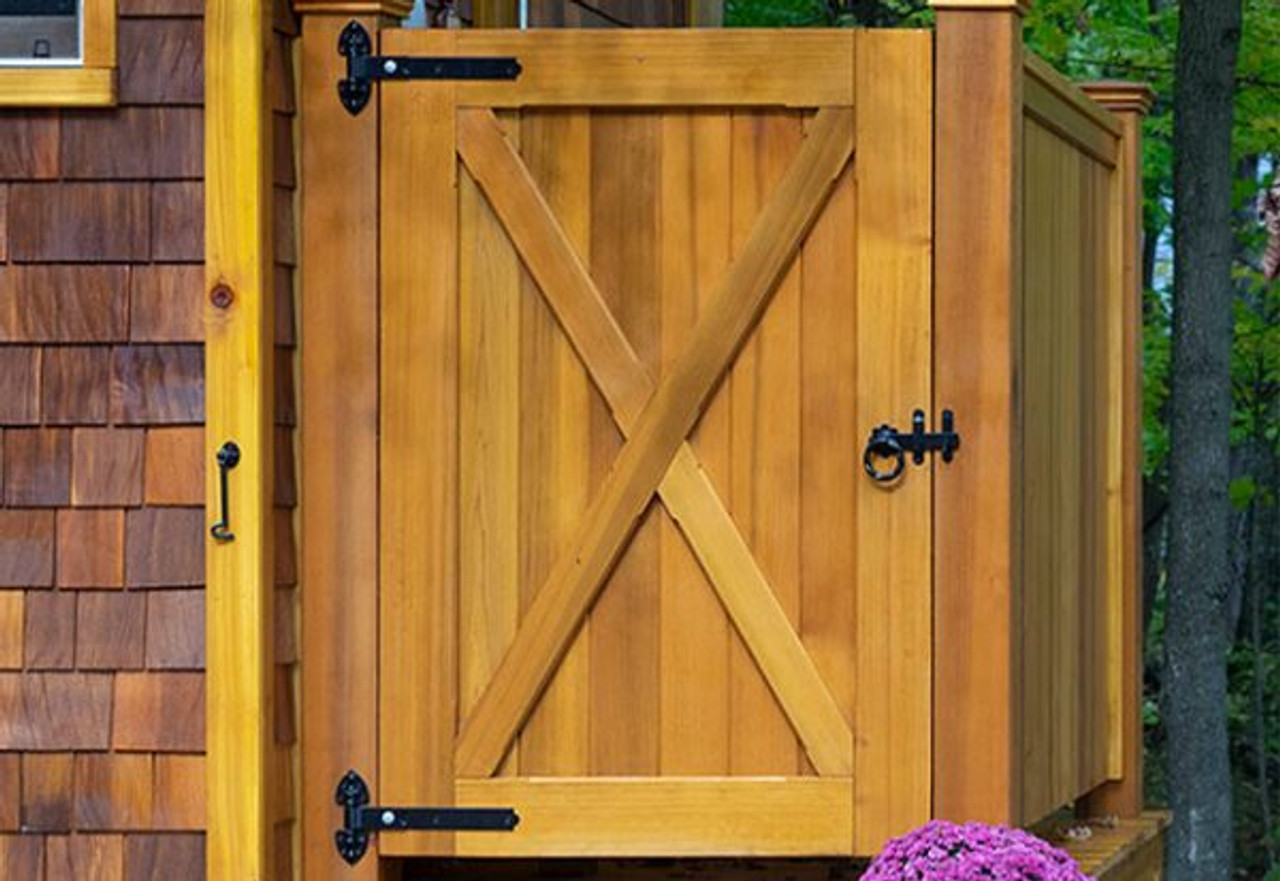 TWISTED Ring Gate SHED CATCH BZP FINISH LARGE GARDEN GATE LATCH D21