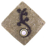 GE ORB Gecko Doorbell Cover in Oil Rubbed Bronze on Diamond Stone lighted Doorbells at 360 Yardware