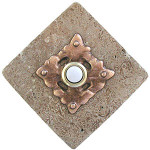 CL RB Clavos in Red Bronze Doorbell Cover on Diamond Stone brass cheap doorbells at 360 Yardware