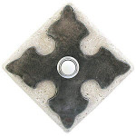 CR PW Large Cross in Pewter on Diamond Stone contemporary door bells at 360 Yardware