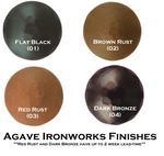 "1-1/2"" Distressed Square Iron Clavos Nail - Dark Bronze"