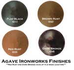 """2"""" Distressed Square Iron Clavos Nail - Brown Rust"""