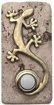 GE BR N Gecko Doorbell Cover in Brass on Narrow Stone doorbell button covers and plates at 360 Yardware