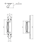 Dimensions of French Pull Handle-Reversible ALGH223