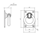 Dimensions of Traditional Ring Handle ALRH155