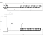 """Dimensions of Adjustable Lag Pintle 6"""" EPSCSS6"""