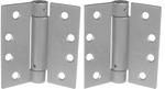Stainless Self-Closing Spring Hinge - Pair (up to 60 lbs)