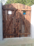 Rustic bronze cane bolt 80-100 on double gate