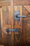 Double Gate secured by flip latch 50-420