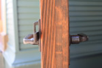 Side View of Bronze Gate Latch