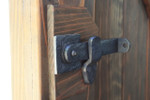 Solid Bronze Flip Latch to lock a gate