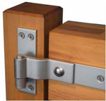 """16"""" Marine Grade 316 Stainless Steel Heavy Duty Strap Hinges - Stainless Finish - Pair"""
