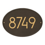Hawthorne Modern Personalized Wall Plaque - Aged Bronze