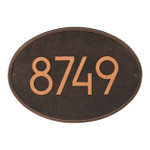 Hawthorne Modern Personalized Wall Plaque - Oil Rubbed Bronze