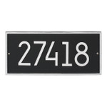 Hartford Modern Personalized Vertical Wall Plaque - Black/Silver