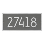 Hartford Modern Personalized Vertical Wall Plaque - Pewter/Silver