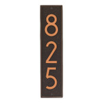 Delaware Modern Personalized Vertical Wall Plaque - Oil Rubbed Bronze