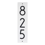 Delaware Modern Personalized Vertical Wall Plaque - White/Black