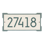 Roanoke Modern Personalized Wall Plaque - Coastal Green