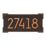 Roanoke Modern Personalized Wall Plaque - Oil Rubbed Bronze