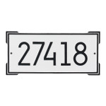 Roanoke Modern Personalized Wall Plaque - White/Black