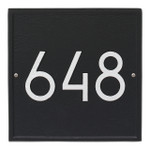 Square Modern Personalized Wall Plaque - Black/Silver