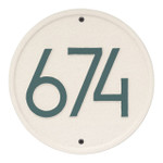 Round Modern Personalized Wall Plaque - Coastal Green