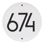 Round Modern Personalized Wall Plaque - White/Black