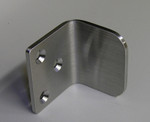 """Brushed Stainless Steel Gate Stop - """"L"""" Shape"""