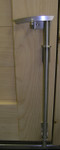 "12"" Marine Grade 316 Brushed Stainless Steel Contemporary Cane Bolt"
