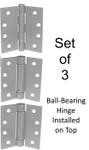 "4-1/2"" Stainless Steel Self-Closing Spring Hinge Combo Set of 3 Hinges"