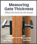 Twisted Ring Black Gate Latch (Build Your Own Package)