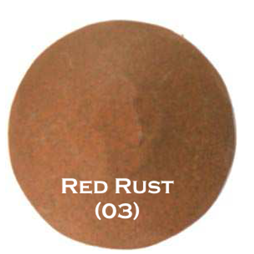 "1-1/4"" Distressed Round Iron Clavos Nail - Red Rust"