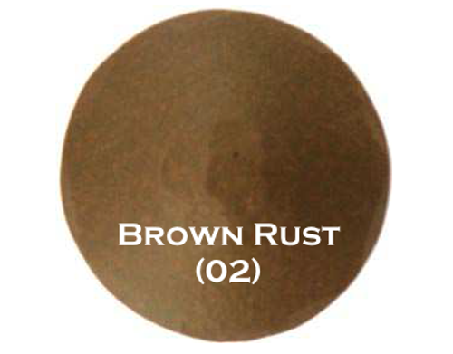 "1-1/2"" Distressed Round Iron Clavos Nail - Brown Rust"