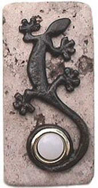 GE ORB N Gecko Doorbell Cover in Oil Rubbed Bronze on Narrow Stone decorative Doorbells at 360 Yardware