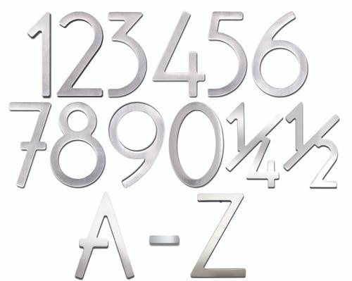 """Self-Adhesive 3"""" Stainless Steel Door Numbers & Letters"""